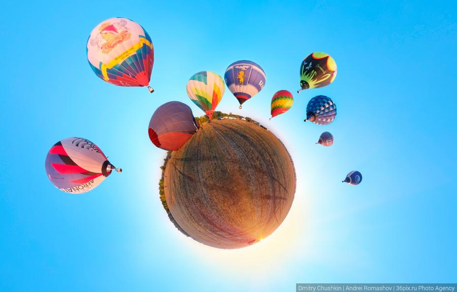 Старт воздушных шаров на кубке Черноземья по воздухоплавательному спорту