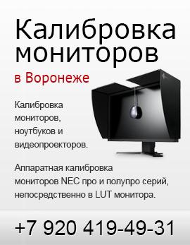 Калибровка мониторов и проекторов в Воронеже